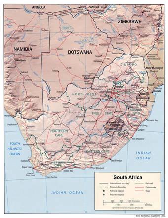 Cartina Sud Africa Da Stampare.Carta Fisica Sudafrica Africa Meridionale Africa Paesi Home Unimondo