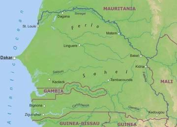 Cartina Fisica Senegal.Carta Fisica 2 Senegal Africa Occidentale Africa Paesi