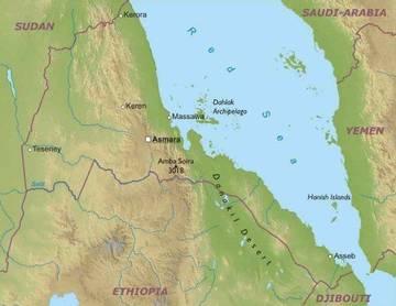Cartina Eritrea.Carta Fisica 2 Eritrea Africa Orientale Africa Paesi Home Unimondo