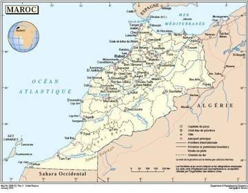 Cartina Politica Del Marocco.Carta Politica Marocco Africa Settentrionale Africa Paesi Home Unimondo