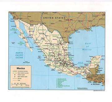 Cartina Politica Messico.Carta Politica Messico America Centrale Americhe Paesi Home Unimondo