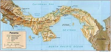 Carta Fisica Panamà America Centrale Americhe Paesi Home