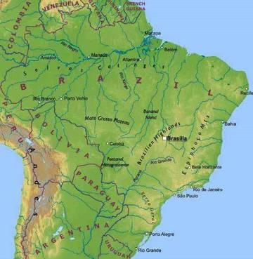 Cartina Fisica America Meridionale.Carta Fisica 2 Brasile America Meridionale Americhe Paesi Home Unimondo
