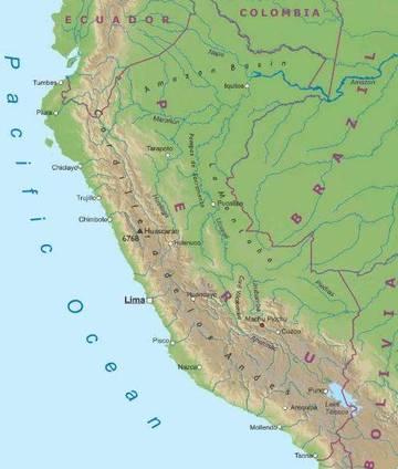 Carta Fisica 2 Per 249 America Meridionale Americhe