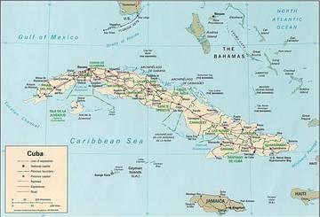 Cartina Politica Dei Caraibi.Carta Politica Cuba Caraibi Americhe Paesi Home Unimondo