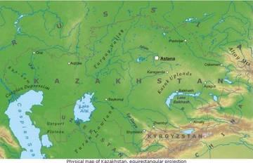 Cartina Asia Fisica.Carta Fisica Kazakistan Asia Centrale Asia Paesi Home Unimondo