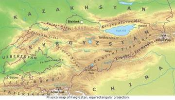Cartina Asia Fisica.Carta Fisica Kirghizistan Asia Centrale Asia Paesi Home Unimondo