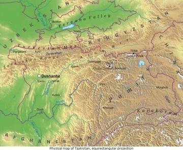 Cartina Asia Fisica.Carta Fisica Tagikistan Asia Centrale Asia Paesi Home Unimondo