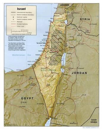 Cartina Israele Fisica.Carta Fisica Israele Asia Occidentale Asia Paesi Home
