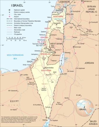 Cartina Fisica Dell Israele.Carta Politica Israele Asia Occidentale Asia Paesi Home Unimondo