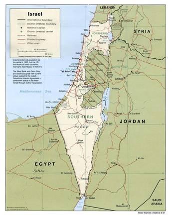 Cartina Politica Israele.Carta Politica Israele Asia Occidentale Asia Paesi Home Unimondo