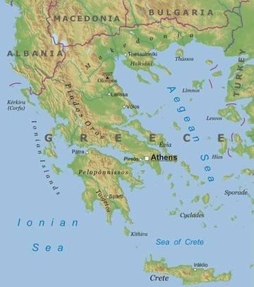 Cartina Sicilia Fisico Politica.Grecia By Francesca Prisco Lessons Tes Teach