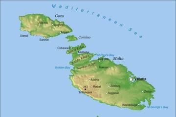 Malta Cartina Stradale.Carta Fisica Malta Europa Meridionale Europa Paesi Home Unimondo