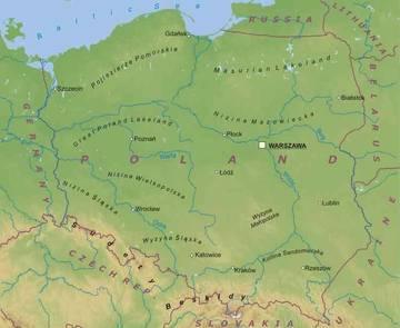 Cartina Fisica Europa Orientale.Carta Fisica Polonia Europa Orientale Europa Paesi Home Unimondo