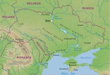 Cartina Fisica Europa Orientale.Carta Fisica Ucraina Europa Orientale Europa Paesi Home Unimondo