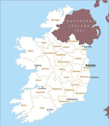 Cartina Politica Irlanda.Carta Politica Irlanda Europa Settentrionale Europa Paesi Home Unimondo