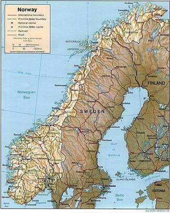 Cartina Norvegia Da Stampare.Carta Fisica Norvegia Europa Settentrionale Europa Paesi Home Unimondo
