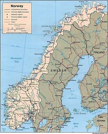 Cartina Politica Norvegia.Carta Politica Norvegia Europa Settentrionale Europa Paesi Home Unimondo