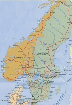 Cartina Norvegia Stradale.Reti Stradali E Ferroviarie Norvegia Europa Settentrionale Europa Paesi Home Unimondo