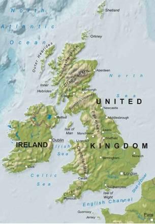Cartina Fisica Regno Unito Da Stampare.Carta Fisica Regno Unito Europa Settentrionale Europa Paesi Home Unimondo