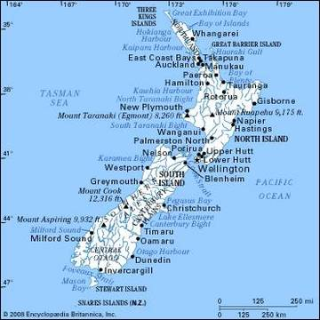 Cartina Australia E Nuova Zelanda.Carta Politica Nuova Zelanda Australia E Nuova Zelanda